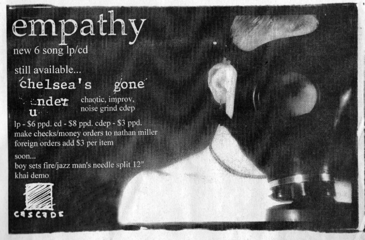 Cascade Records ad for Empathy, circa 1997