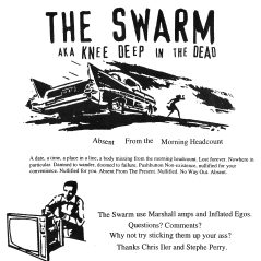 """The Street Enters the House"" compilation, Fans of Bad Productions Records, summer 2000. The Swarm page in the booklet"