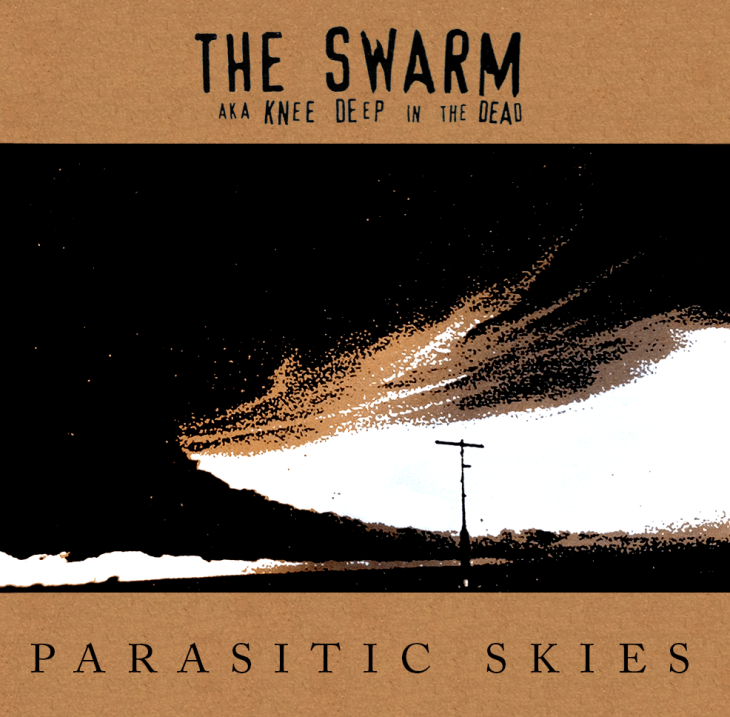 """The Swarm aka Knee Deep in the Dead's album """"Parasitic Skies"""", 12"""" repress by No Idea Records, February 2013"""