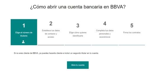 Cómo crear gratis una cuenta bancaria BBVA