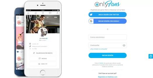 Crear cuenta OnlyFans