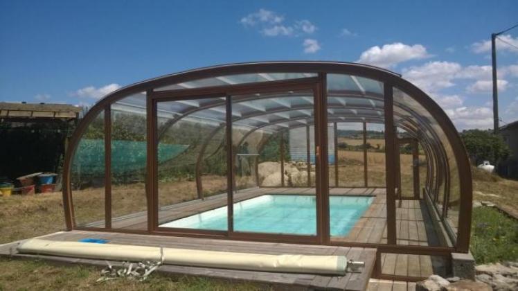 abri piscine sur terrasse bois abris