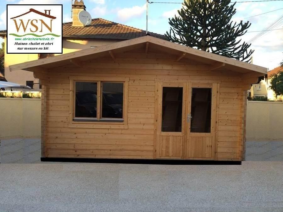 bungalow en bois aveyron 20m dim 5000x4000 70mm