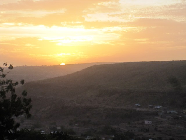 Bamako at sunset from G14