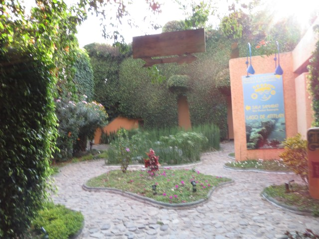 INside the ground of the Hotel Posada de Don Rodrigo