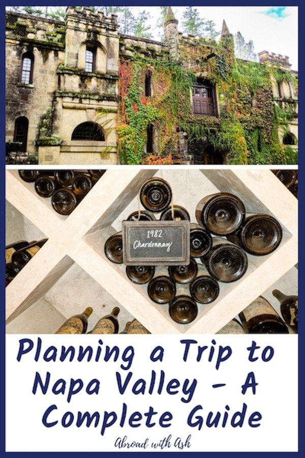 planning a trip to napa valley