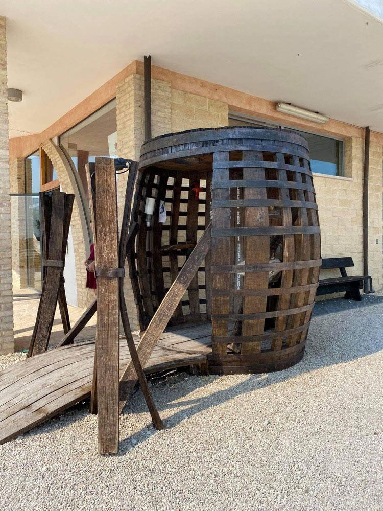 wine fountain in abruzzo