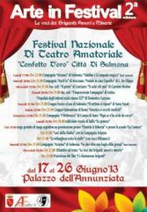 Arte in Festival, la seconda edizione dal 17 al 30 giugno a Sulmona