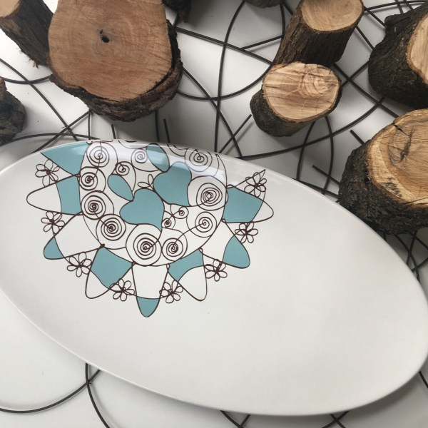 Piatto ceramica di Castelli 58x30