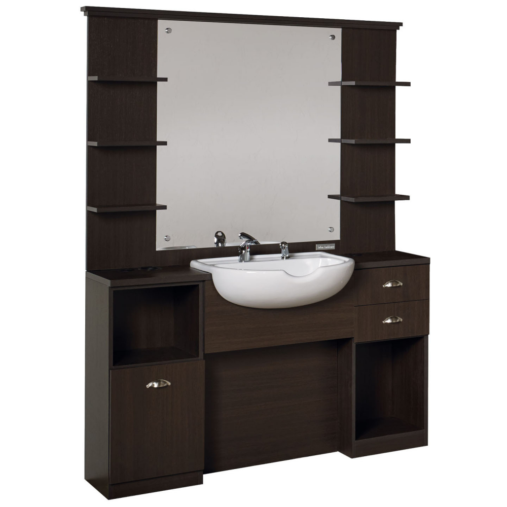 salon ambience mm 101 triomphe barber station with basin