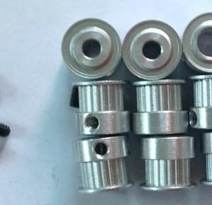 1 Pezzi HTD-3M-09 14teeth, 9mm width, hole 6mm H7 teeth type 2F with two M3/M4 blocking screws