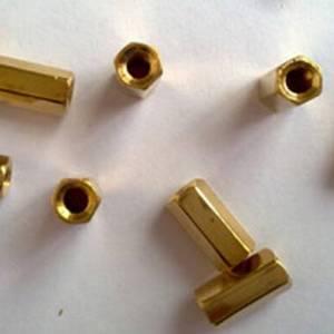 Cilindro in ottone esagonale 10 pezzi 10MM - dorato