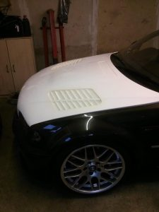E46 GTR Vents fitted to M3 Bonnet
