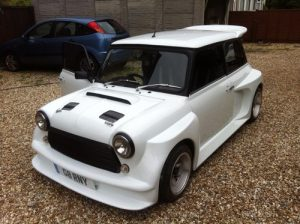 mini cosworth spoiler white