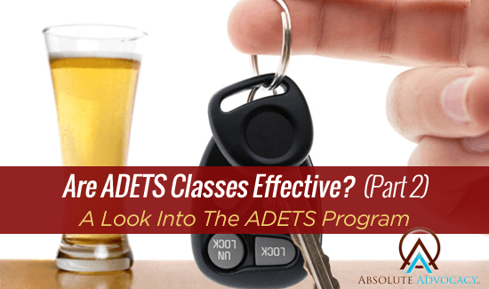 ADETS Class Effective - NC DWI ADETS Curriculum