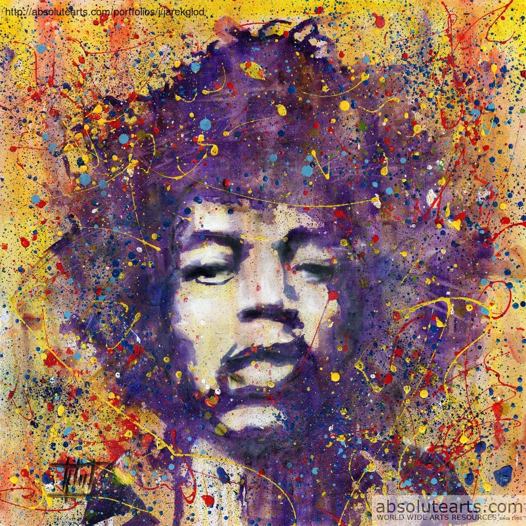 Jaroslaw Glod Artwork Jimi Hendrix