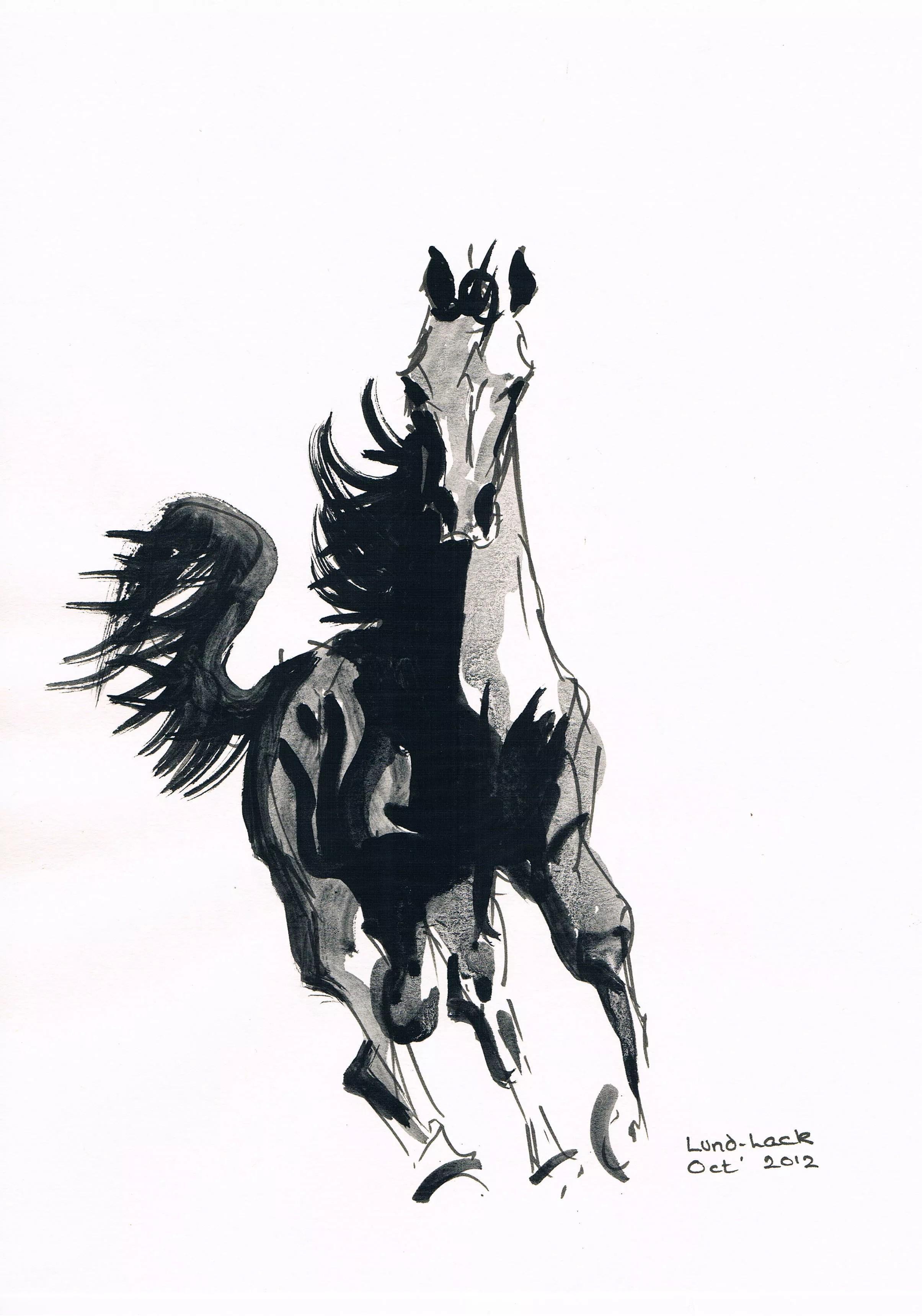 Tom Lund Lack Artwork Running Horse No 2