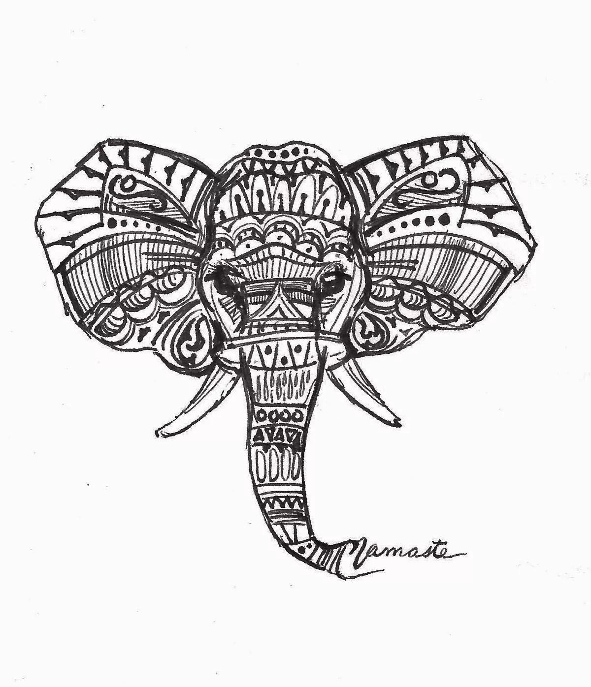 Maria Changalidi Artwork Namaste Elephant