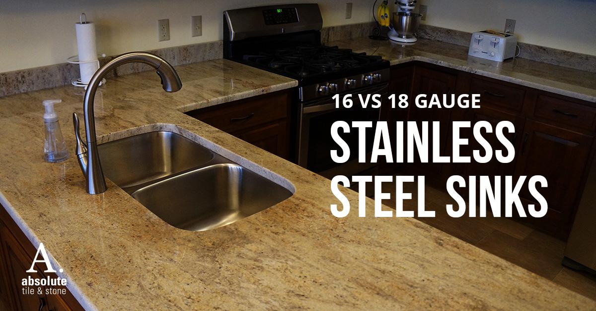 16 gauge vs 18 gauge stainless steel sinks
