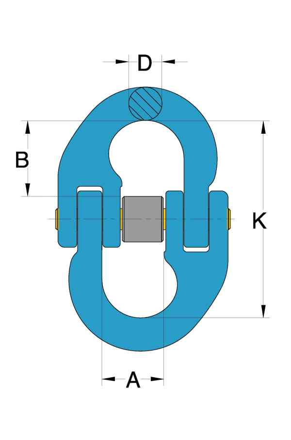 Grade 100 Chain Fittings Connecting Link_drawing-min
