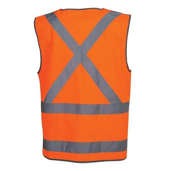 Tear Away Day and Night Safety Vest - Orange back