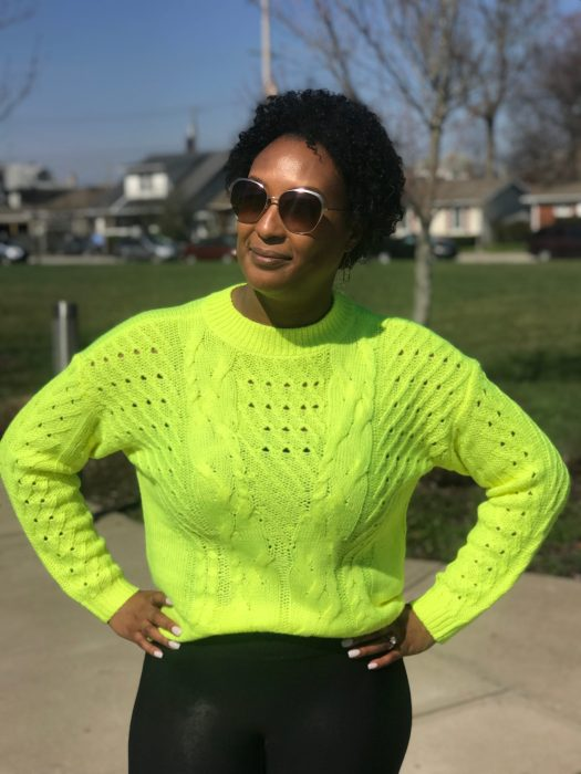 Zac Posen, Neon Sweater