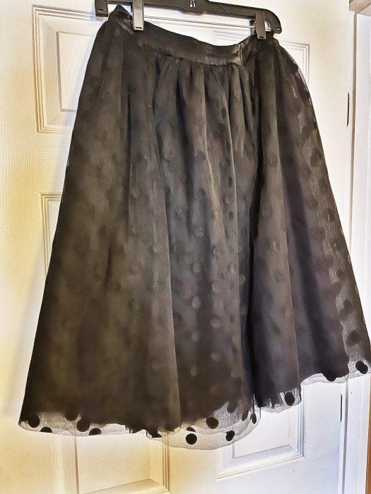 Tulle skirt, dry clean