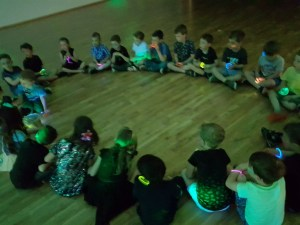Glow in the dark children's party