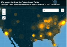 The Spread of the Grand Jury's Ferguson Decision on Twitter, in One Map