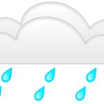 Emergency roof repairs - rain drops under cloud