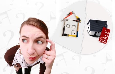 "Woman thinking "" Should I Replace My Roof Before I Sell My Home """