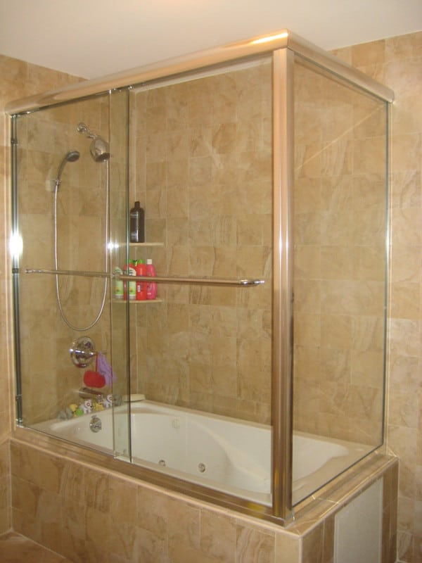 Frameless Corner Tub Enclosure - Absolute Shower Doors
