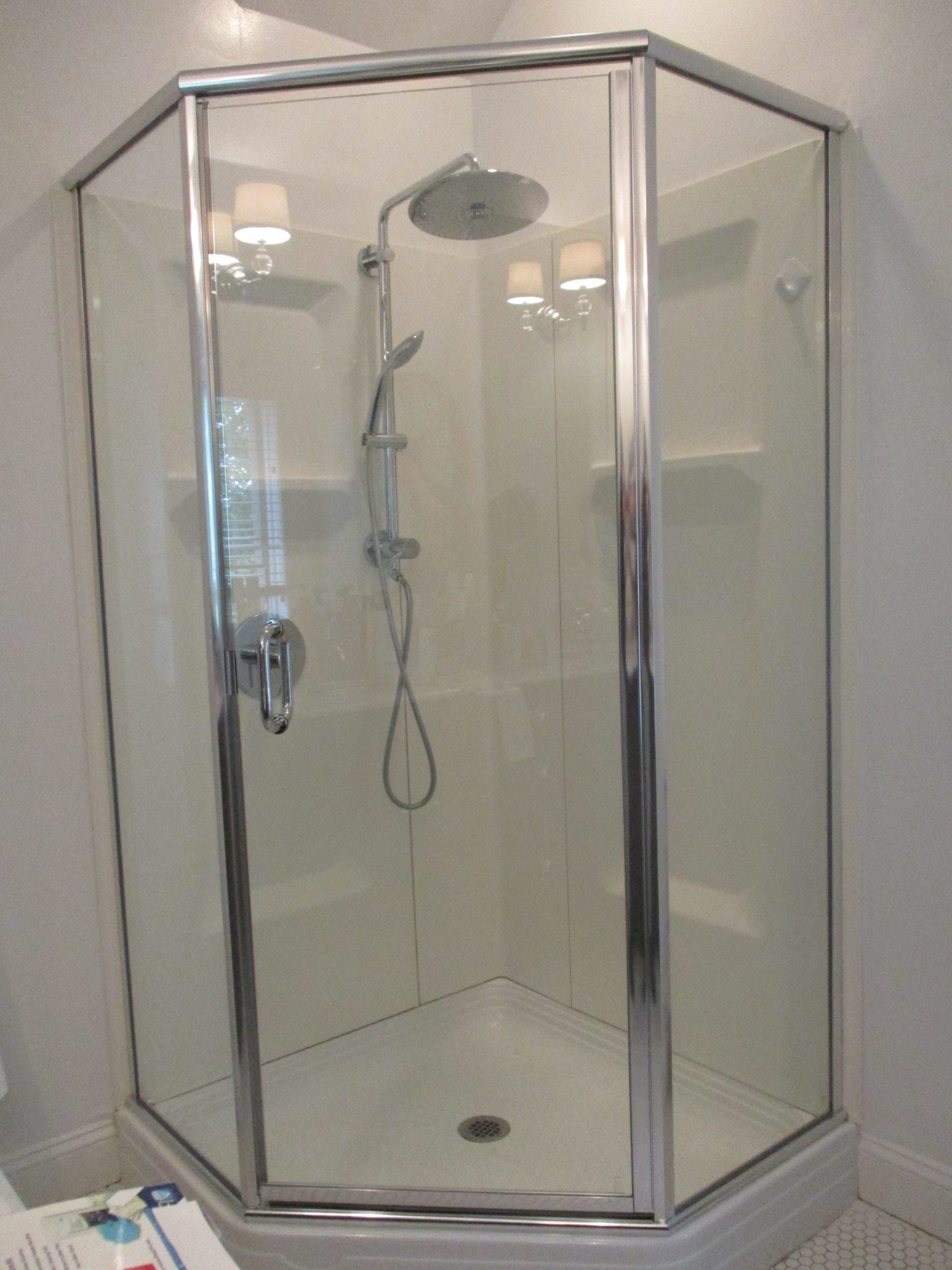 Semi Frameless Neo Angle Shower Enclosure By Absolute
