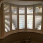 5 Panel Curved Bay Window Fitted With Plantation Shutters