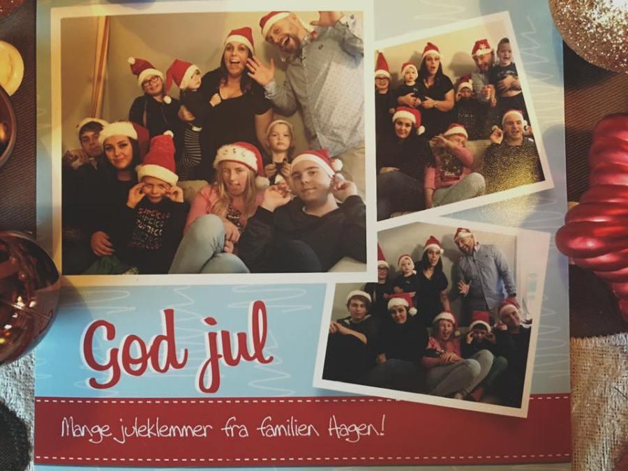 Vi var også med i TV2 hjelper deg, der vi testet julekort.