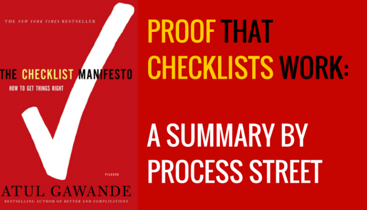 A Short Summary of The Checklist Manifesto