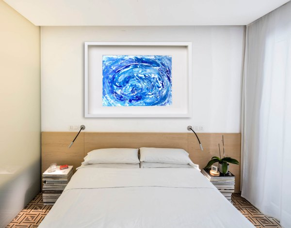 Skies of Blue - Abstract Expressionism by Estelle Asmodelle