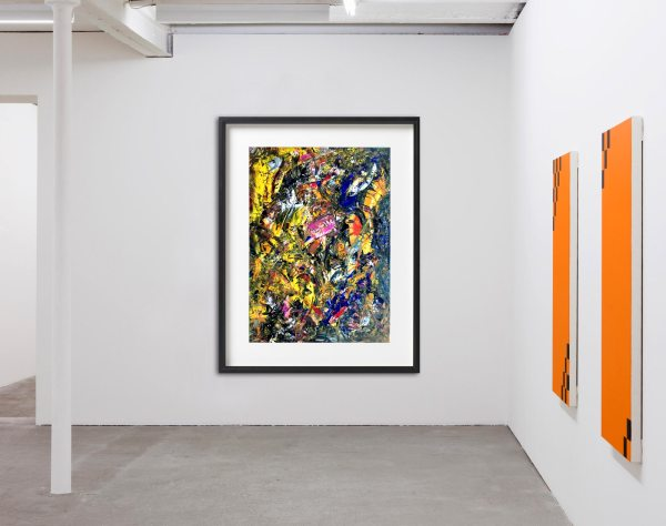 Through Chaos - Abstract Expressionism by Estelle Asmodelle