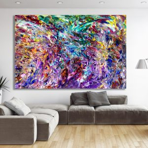 The Presence - Abstract Expressionism by Estelle Asmodelle