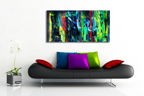 Colour Revival - Abstract Expressionism by Estelle Asmodelle