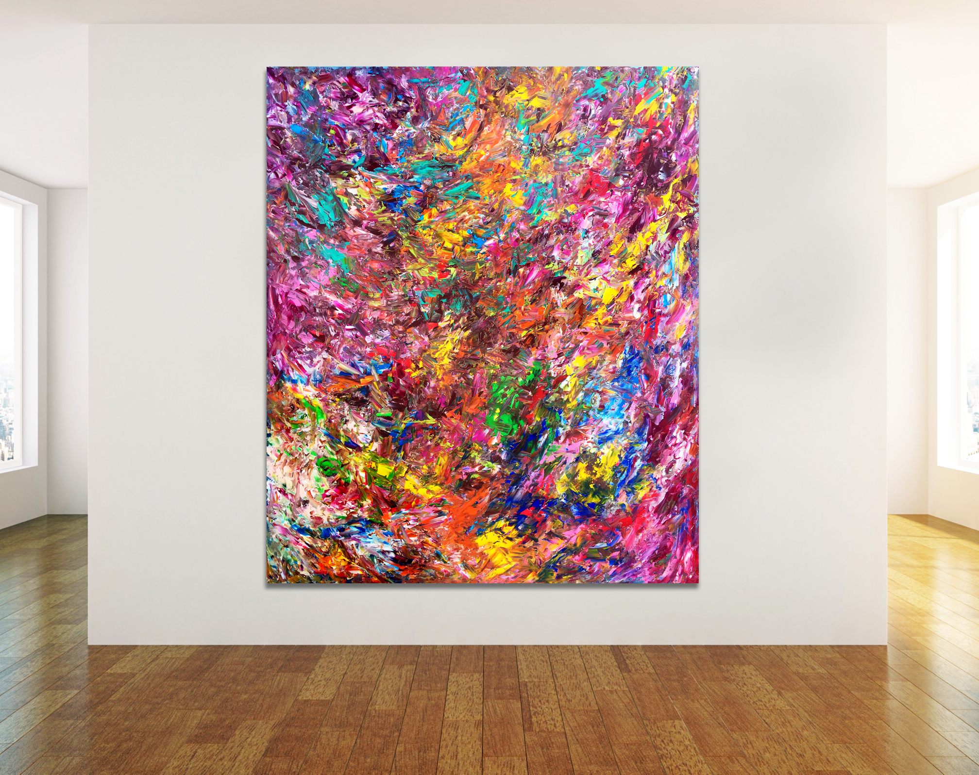Lollipop Sunshine - Abstract Expressionism by Estelle Asmodelle