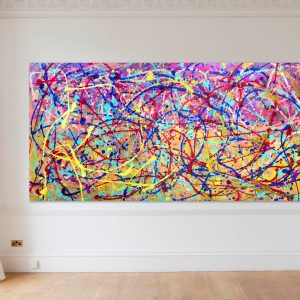 Golden thread of Abstract Expressionism by Estelle Asmodelle