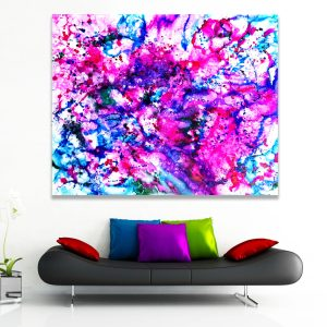 Colour Encounter - Abstract Expressionism by Estelle Asmodelle
