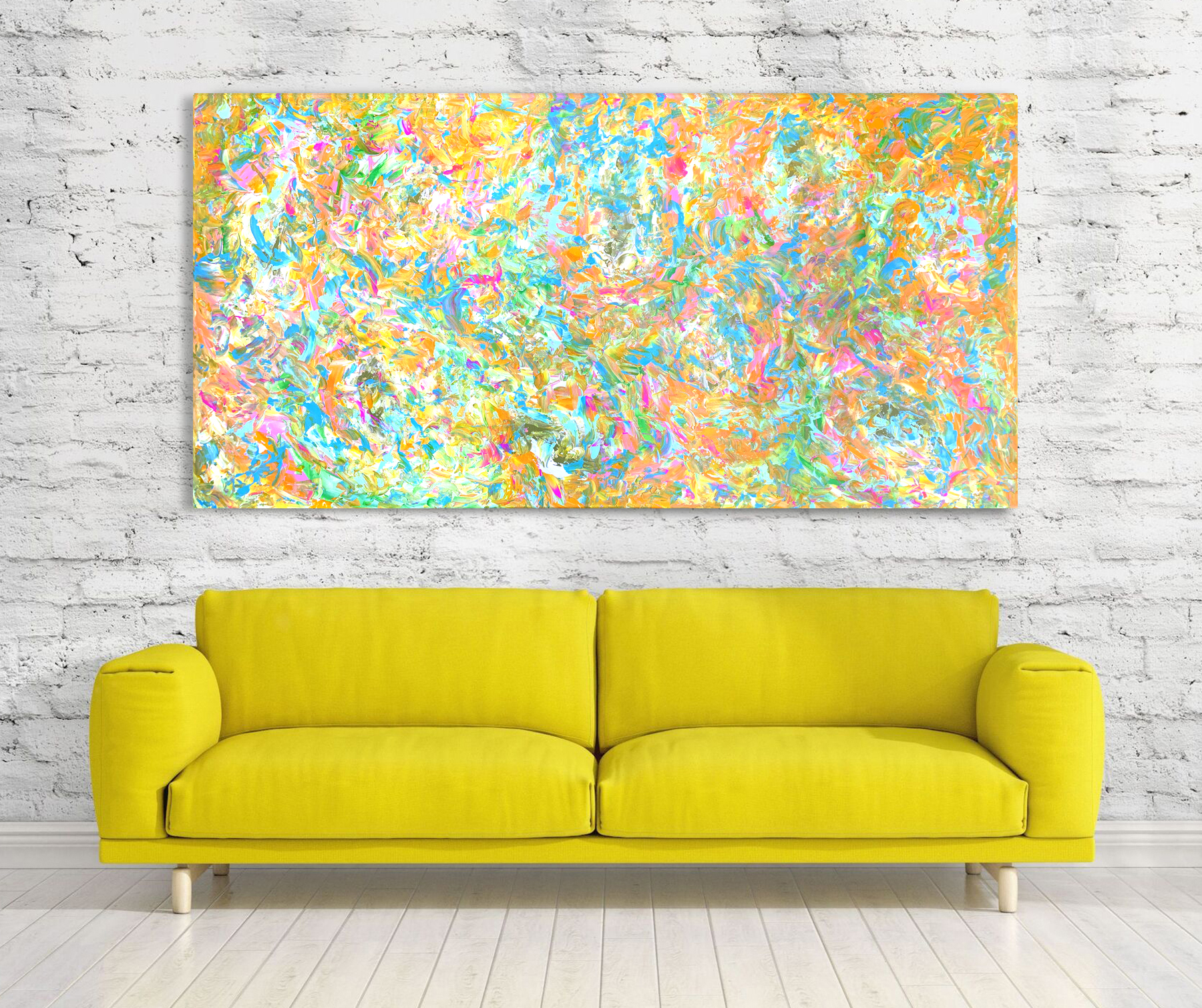 Darling Candy - Abstract Expressionism by Estelle Asmodelle