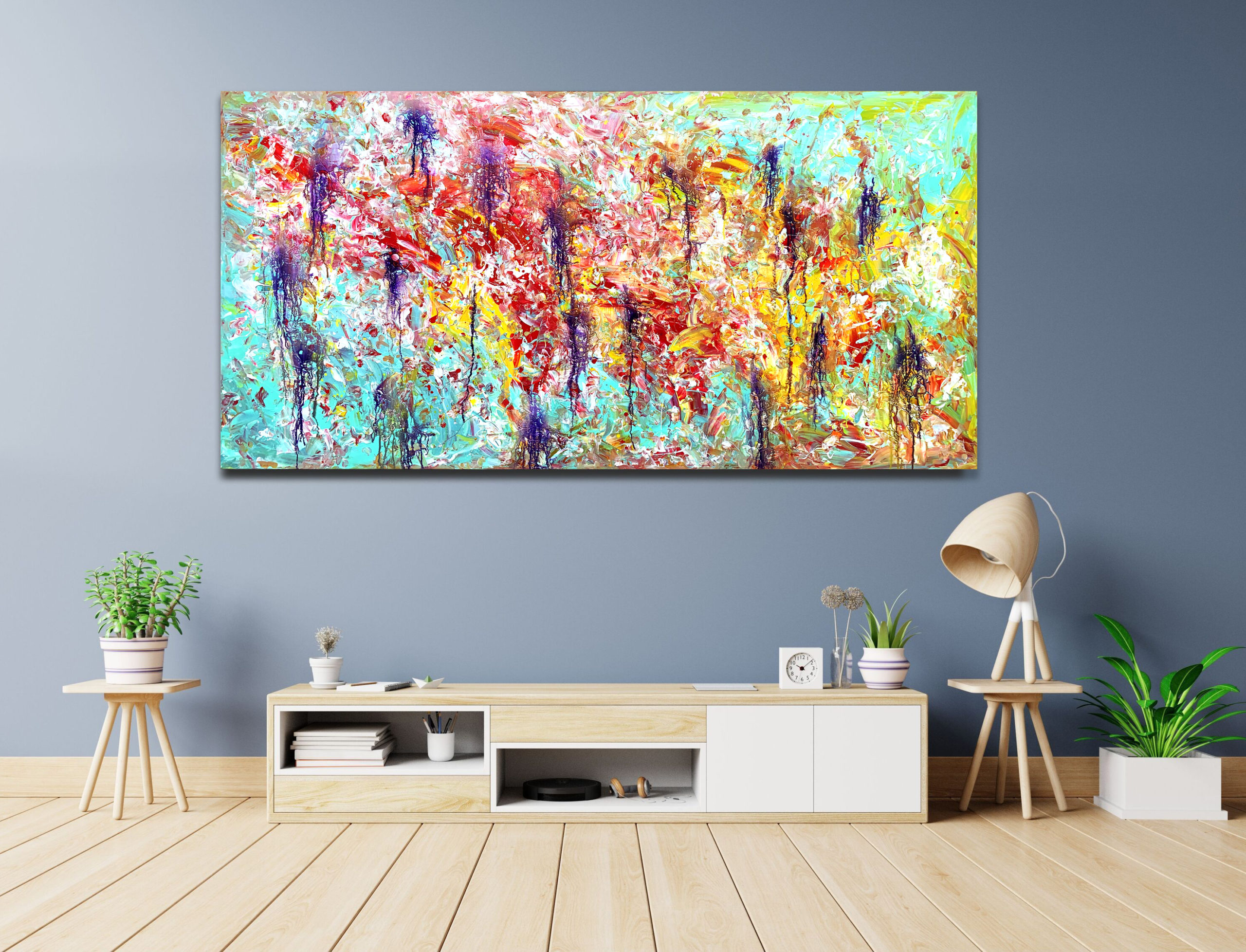 Infusing Retrospection - Abstract Expressionism by Estelle Asmodelle