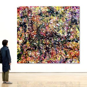 Stellar Nursery Redux - Abstract Expressionism by Estelle Asmodelle