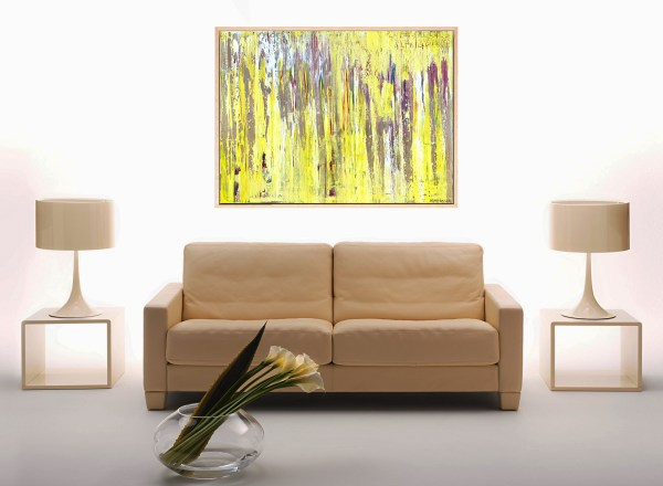 Interleaving Forest Sunlight- Abstract Expressionism by Estelle Asmodelle