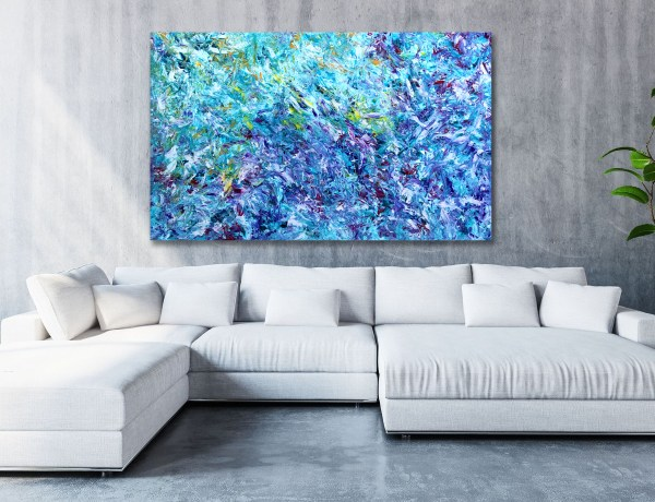 Journey to Uruk - Abstract Expressionism by Estelle Asmodelle