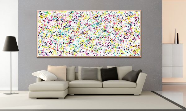 Baby Universe [Framed] - Abstract Expressionism by Estelle Asmodelle