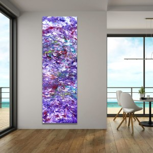 Purple Companion - Abstract Expressionism by Estelle Asmodelle